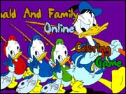 Donald and Family Online Coloring