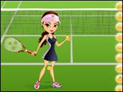 Energetic Tennis Player