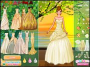 Golden Bride Dress Up