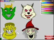 Halloween Mask Coloring