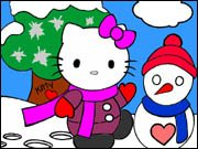 Hello Kitty in the Snow