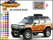 Hummer Jeep Coloring