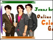 Jonas Brothers Online Coloring