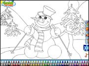Snowman Coloring Game